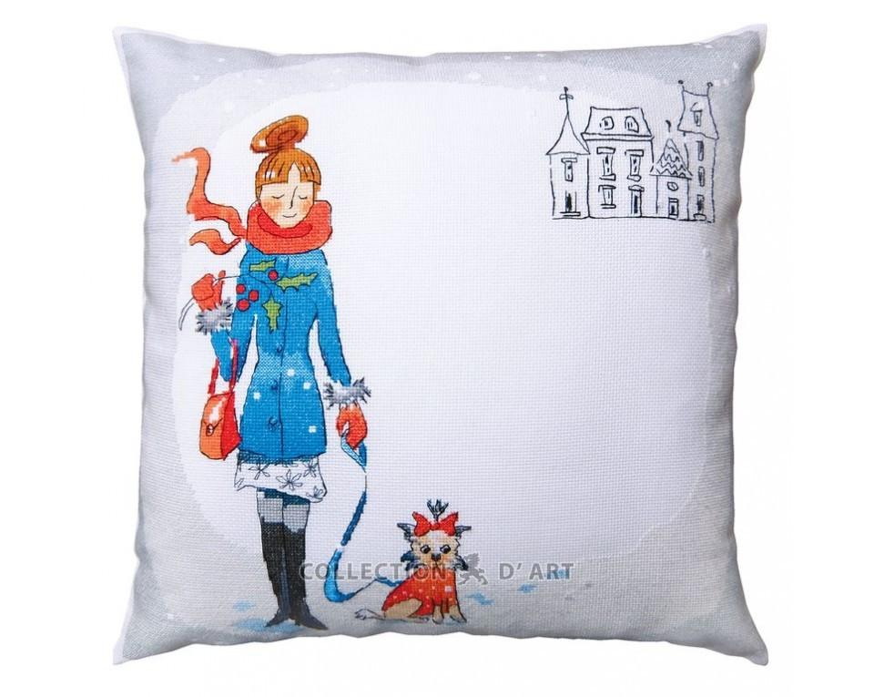 """/""""Winter walk/"""" Counted Cross Stitch Kit RTO"""